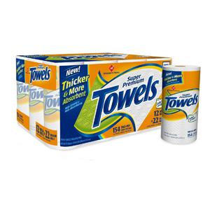 Khăn giấy cuộn Towels (15 cuộn/ lốc)