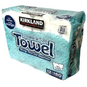 Khăn giấy cuộn Towels Kirkland (lốc 12 cuộn)