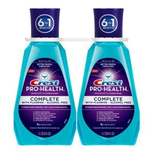 Nước súc miệng Crest Pro Health 1L (2 chai/ lốc)