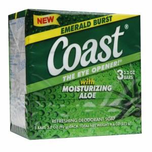 Xà bông cục Coast Aloe (3 cục/ lốc)