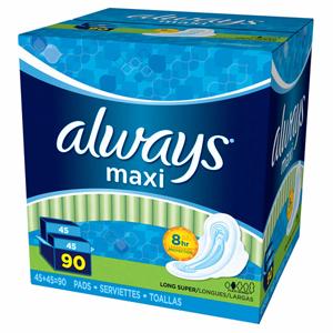 Băng vệ sinh Always maxi (90 miếng/ thùng)