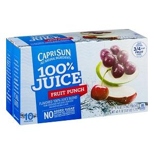 Nước ép trái cây Caprisun Fruit Punch (10 bịch/ thùng)