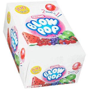 Kẹo trái cây Charms Blow Pop (100 cây/ hộp)