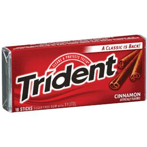 Keo gum không đường Trident hương quế