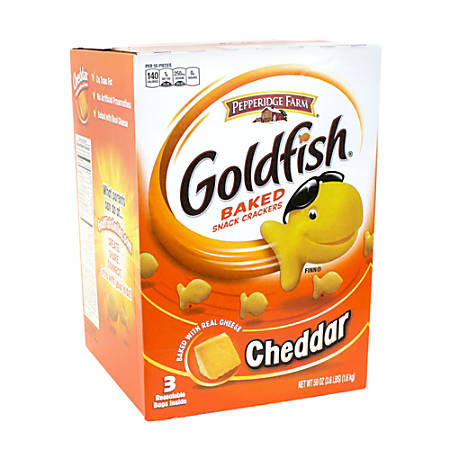 Bánh Cá Goldfish Vị Phô Mai Cheddar Pepperidge Farm (thùng 3 gói 1.6kg)