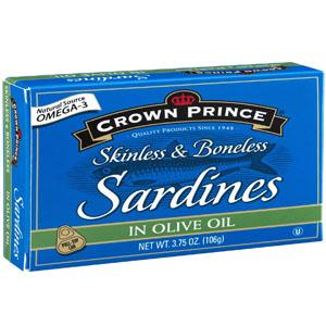 Cá mòi đóng hộp Sardines Crown Prince (106g/ hộp)