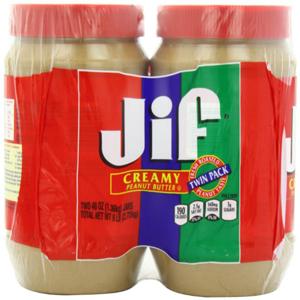 Bơ đậu phọng JIF creamy 2.27kg (2 hủ/ lốc)