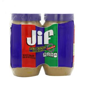 Bơ đậu phọng JIF Crunchy 2.72 kg (2 hủ/ lốc)