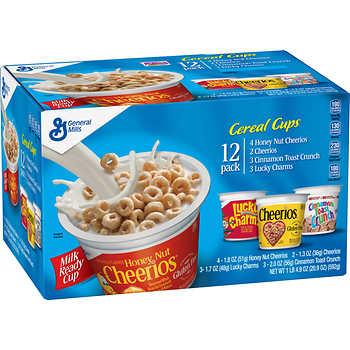 Ngũ Cốc Ăn Sáng 4 Loại Cereal Cups - Thùng 12 Ly