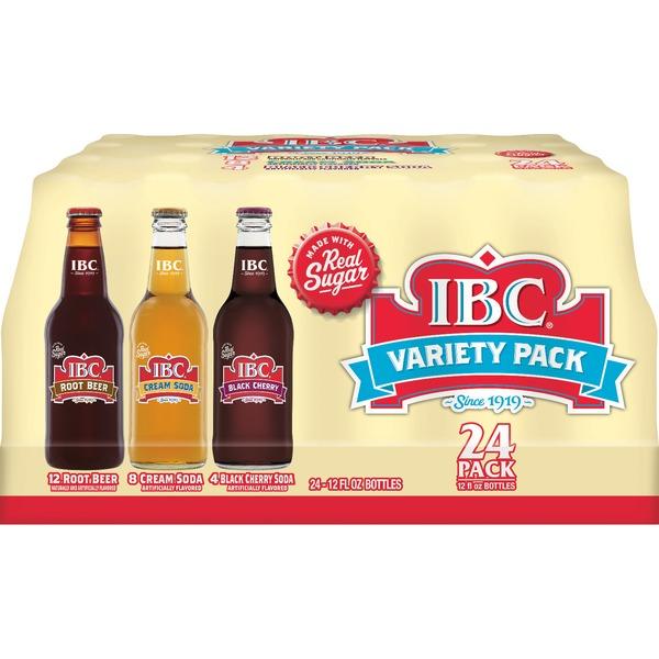 Thùng 3 loại nước ngọt IBC Root bear - Cherry - Cream soda (24 chai)