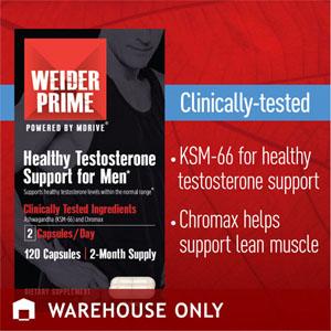 Thực phẩm chức năng Weider Prime tăng cơ bắp và kích thích tố cho nam (120 viên/ hộp)