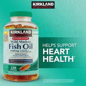 TPCN Kirkland Wild Alaskan Fish Oil (230 viên/ chai)