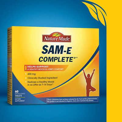TPCN Nature Made SAM-E Complete 400mg 60V - Viên Uống Cải Thiện Tinh Thần, Giảm Căng Thẳng - Stress