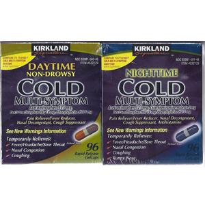 Thuốc giảm đau hạ sốt Cold Kirkland 2 hộp ngày+1 hộp đêm
