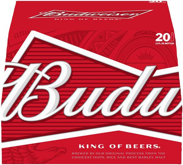 Bia Budweiser Chai Nhôm Nhập Mỹ - Thùng 24 Chai 473ml